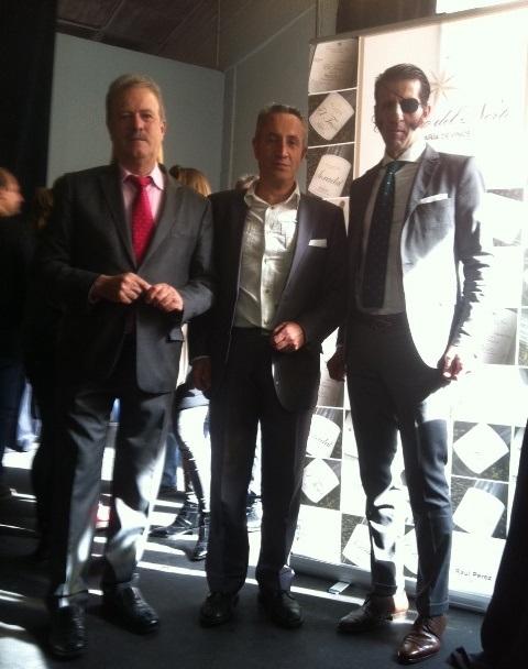 Luis Miguel con Manuel Campo Vidal y el Maestro Padilla