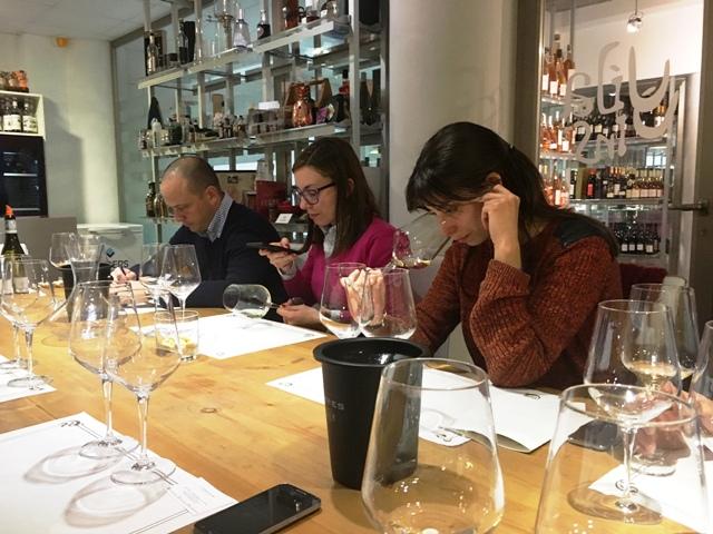 El equipo de Vila Vins conociendo los vinos de Camino del Norte