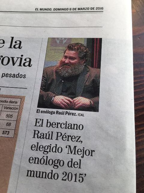 Raúl Pérez galardonado en Shanghai como mejor enólogo del mundo