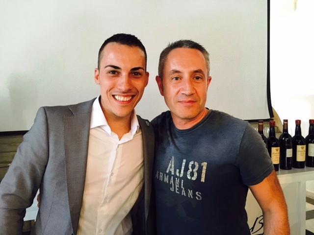 Luis Miguel, Director de Camino del Norte, con Guillermo Cruz, sumiller del restaurante Mugaritz y mejor sumiller de España