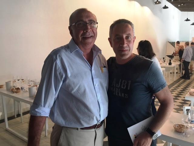 Luis Miguel, Director de Camino del Norte, con Antonio Flores, Master Blender de Tío Pepe