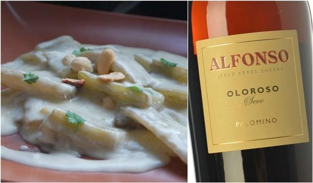 Cardo con salsa de almendras y Oloroso Alfonso