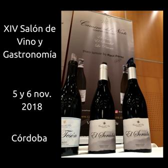 Camino del Norte en el XIV Salón de Vino y Gastronomía 2018 de Córdoba